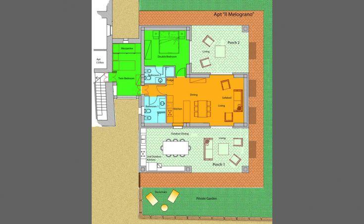 Planimetria Apt 4 Il Melograno, Casa Greppo