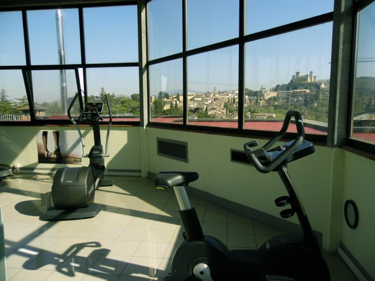 Palestra Panoramica con splendida vista sulla città presso Albornoz Palace Hotel di Spoleto