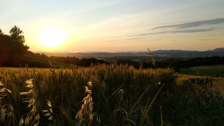 Deruta, tramonto in collina