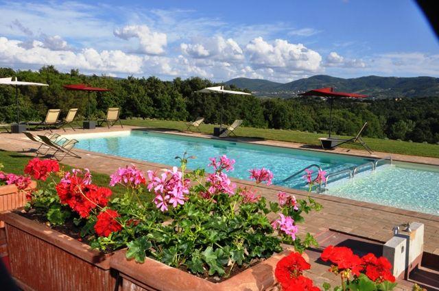 La piscina è grande e su due livelli (e anche panoramica).
